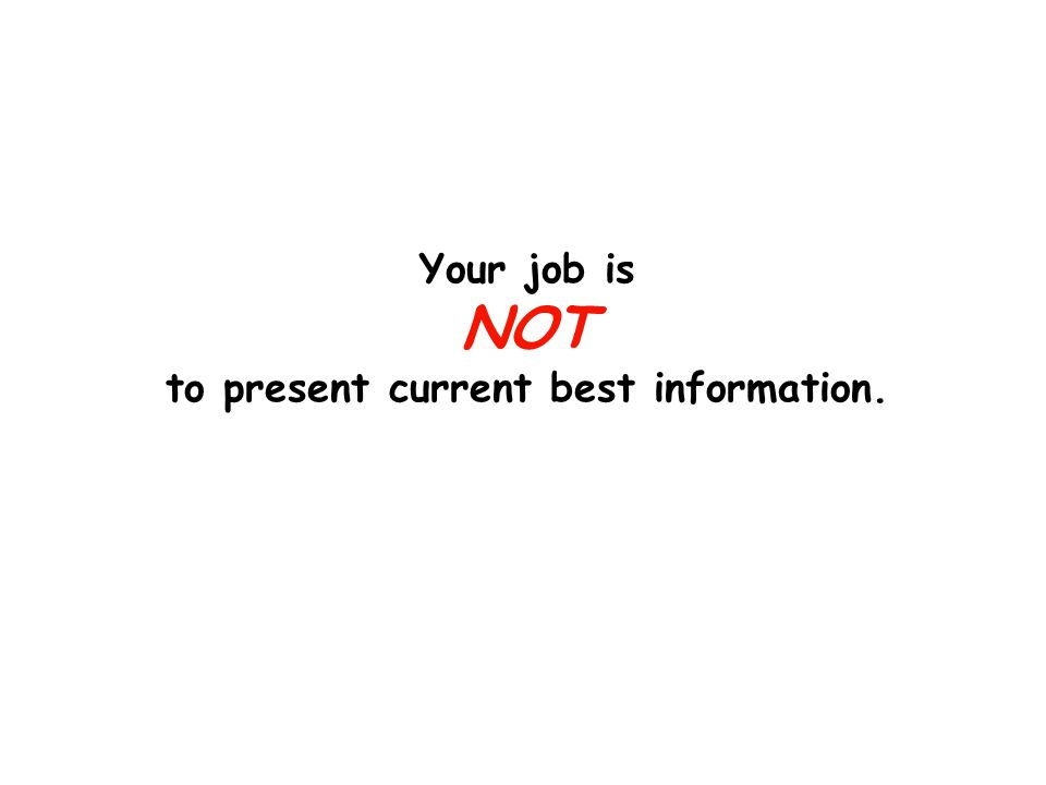 Your job is NOT to get your story out there.