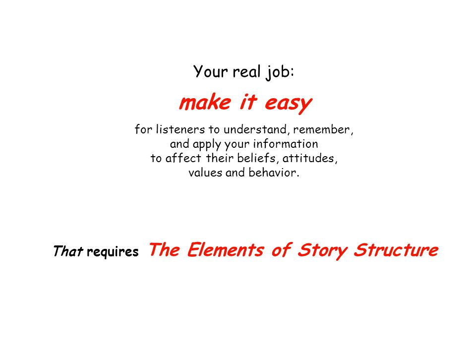 Story Represents a way of thinking, of planning your communications.
