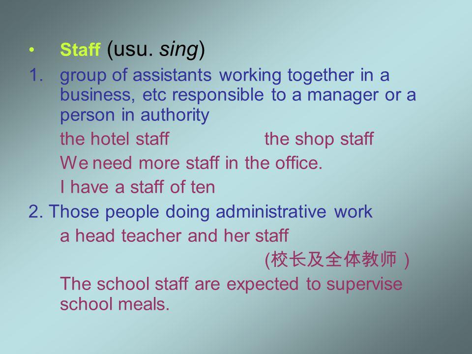 Staff (usu.
