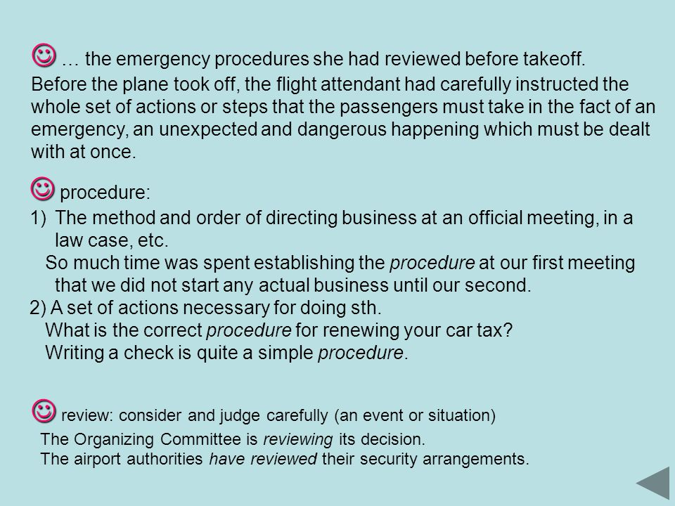 … the emergency procedures she had reviewed before takeoff.