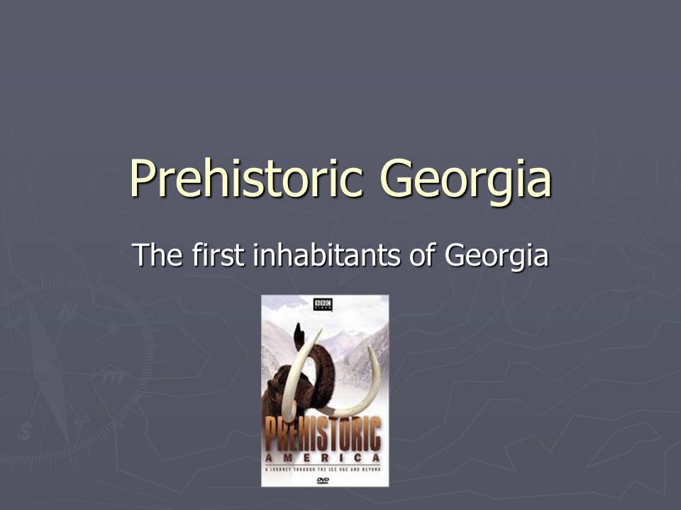 Prehistoric Georgia The first inhabitants of Georgia
