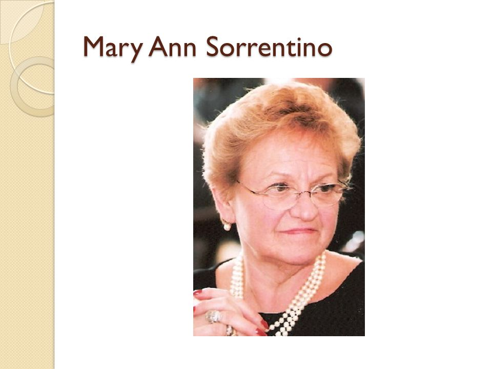 Mary Ann Sorrentino