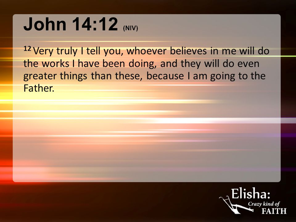 1 Kings 19:19-21 (NIV84) 19 So Elijah went from there and found Elisha son of Shaphat.