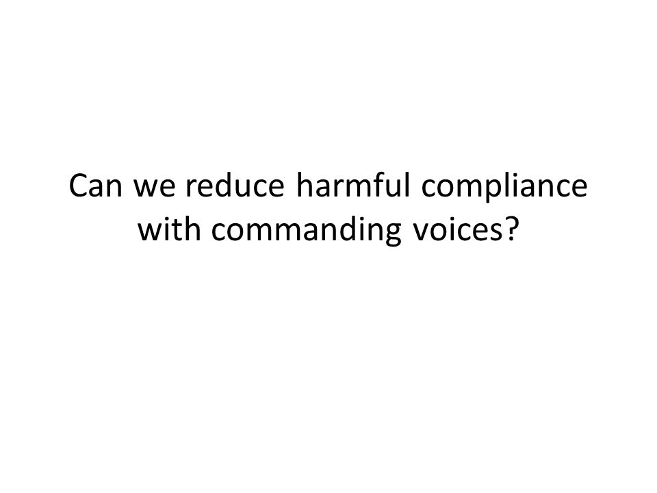 Can we reduce harmful compliance with commanding voices