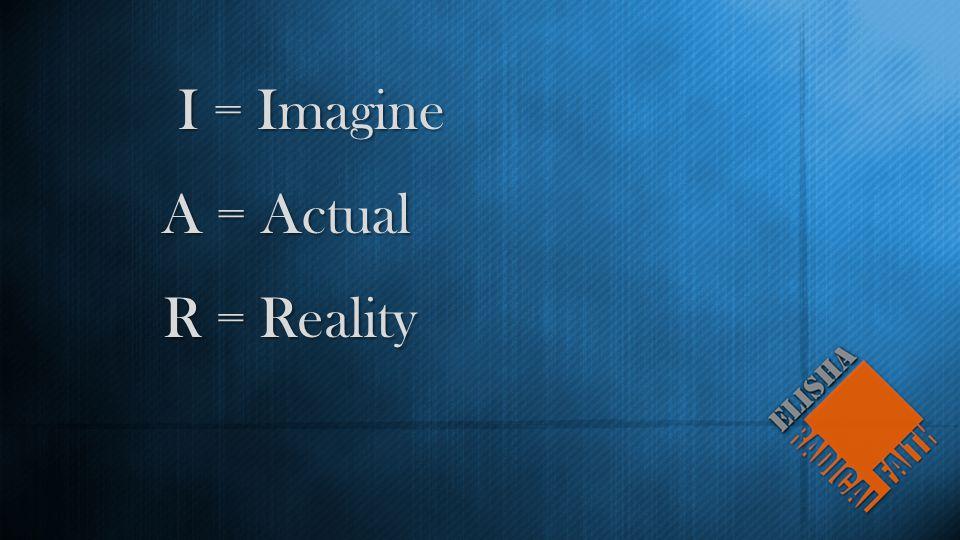 I = Imagine A = Actual R = Reality