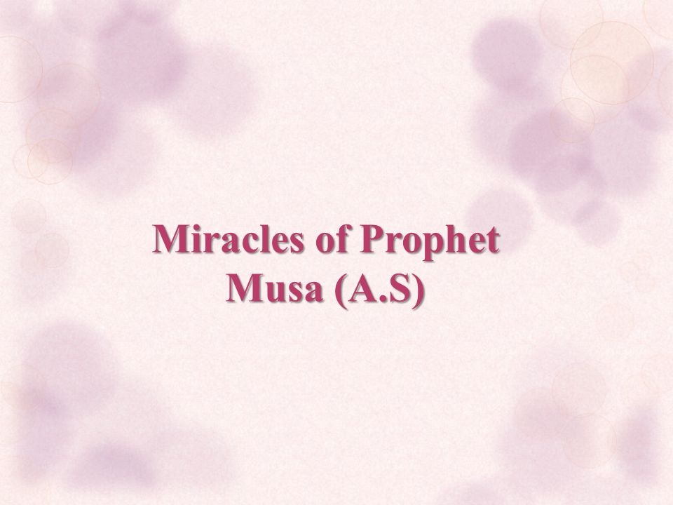 Miracles of Prophet Musa (A.S)