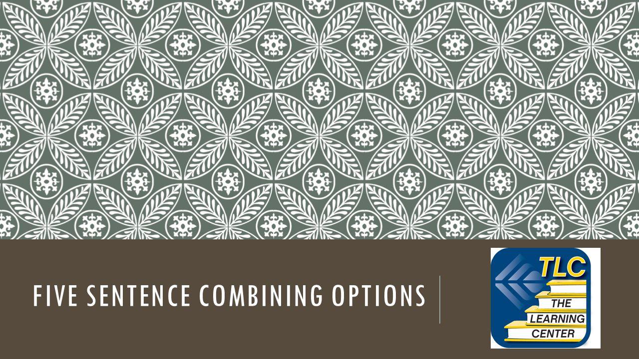 FIVE SENTENCE COMBINING OPTIONS