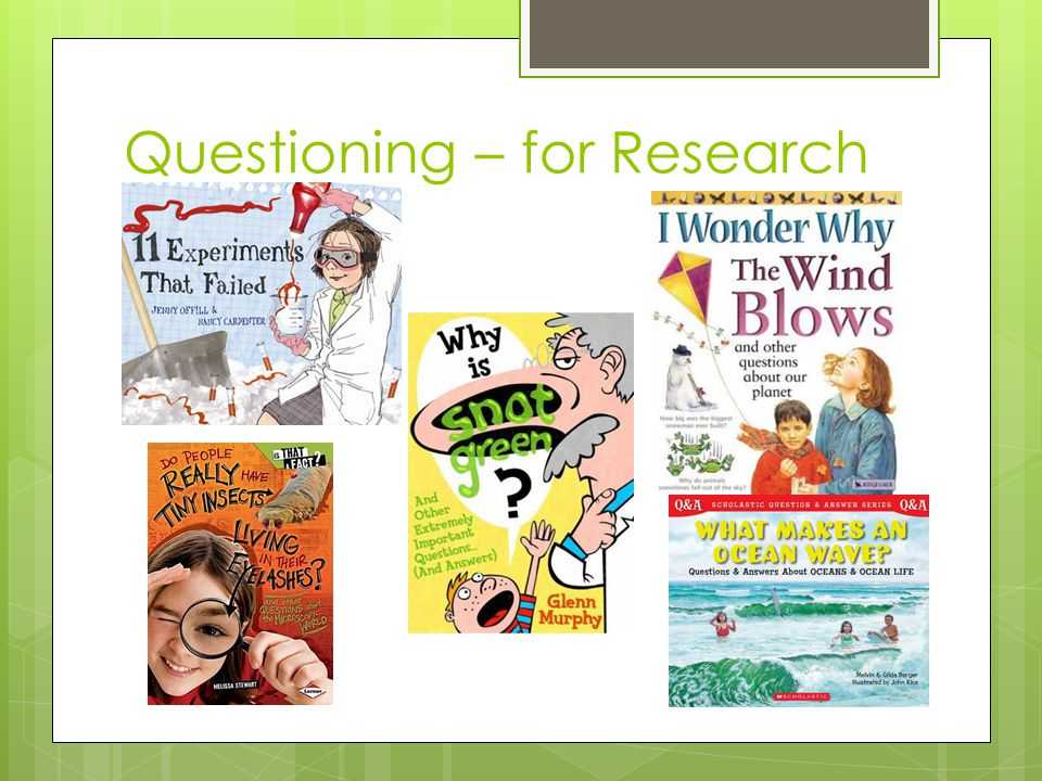 Questioning – for Research