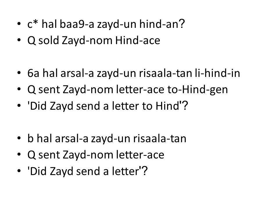 c* hal baa9-a zayd-un hind-an.