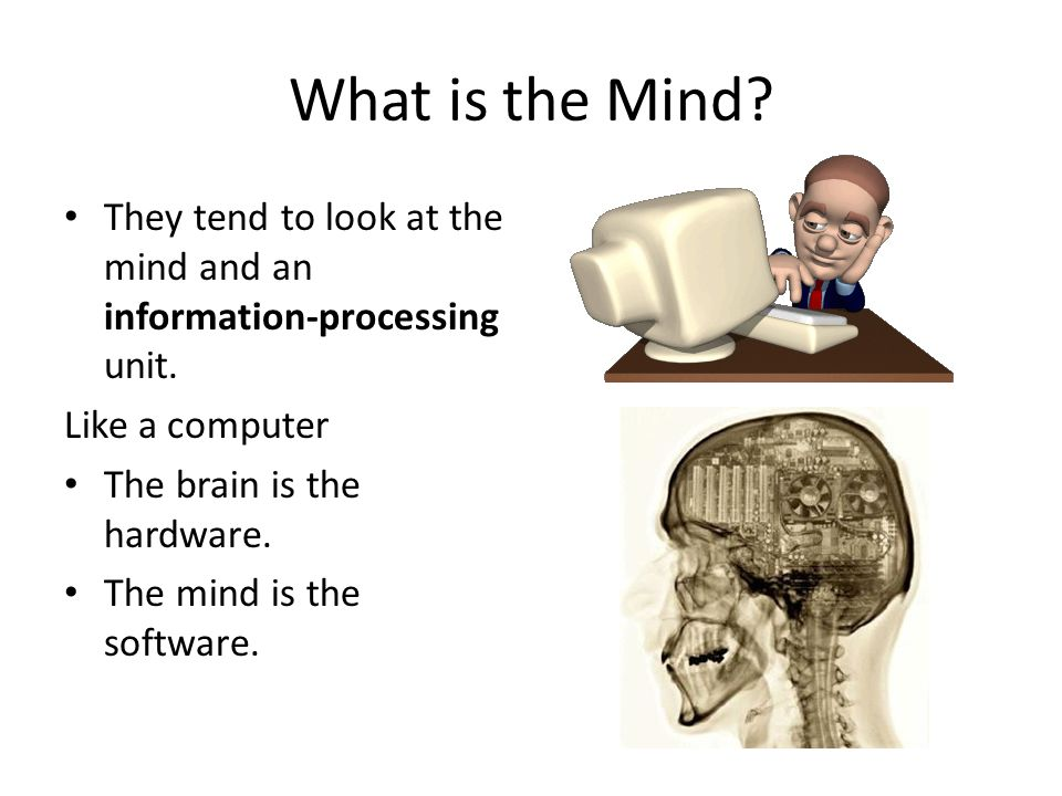 What is the Mind. They tend to look at the mind and an information-processing unit.