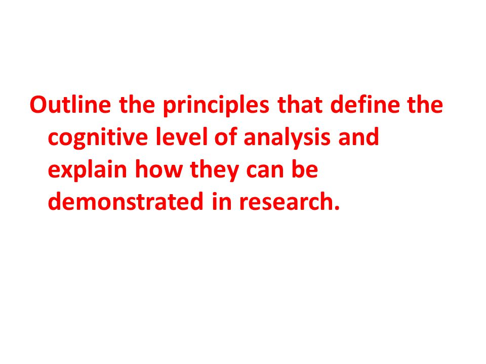 Principle 1: Human beings are information processors and mental processes guide behavior.