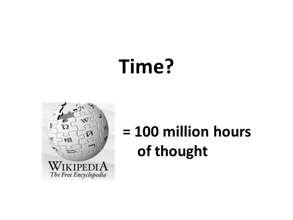 Time = 100 million hours of thought