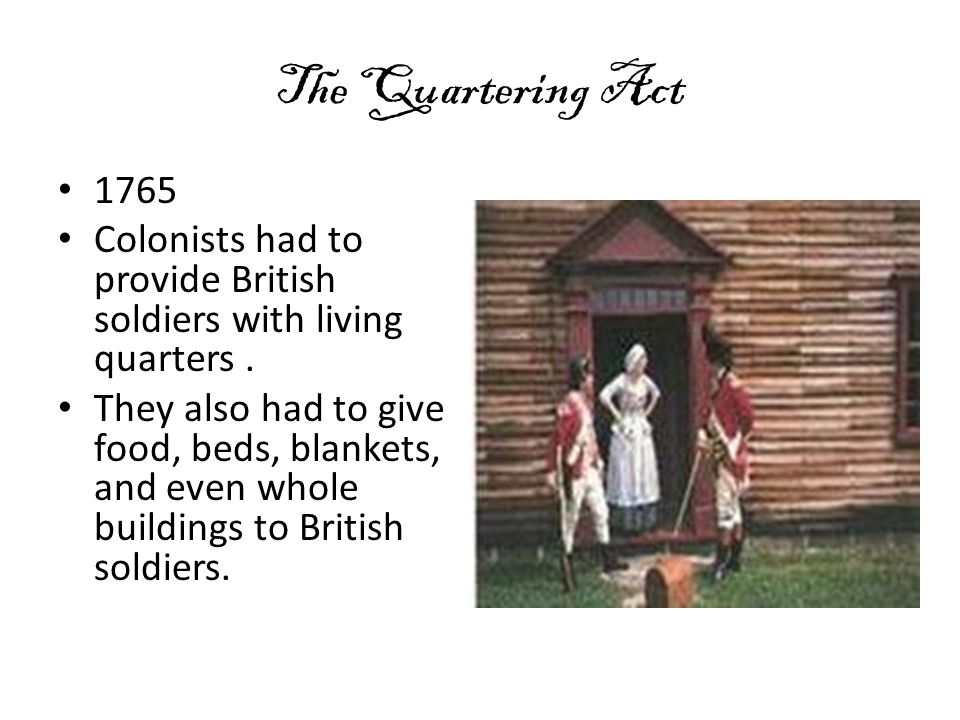 The Stamp Act It started in 1765 The King taxed all the colonists on all pieces of printed paper.