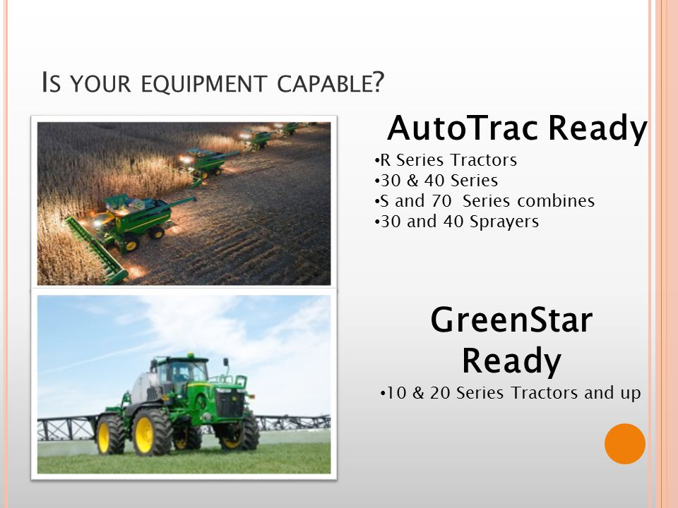 I S YOUR EQUIPMENT CAPABLE .