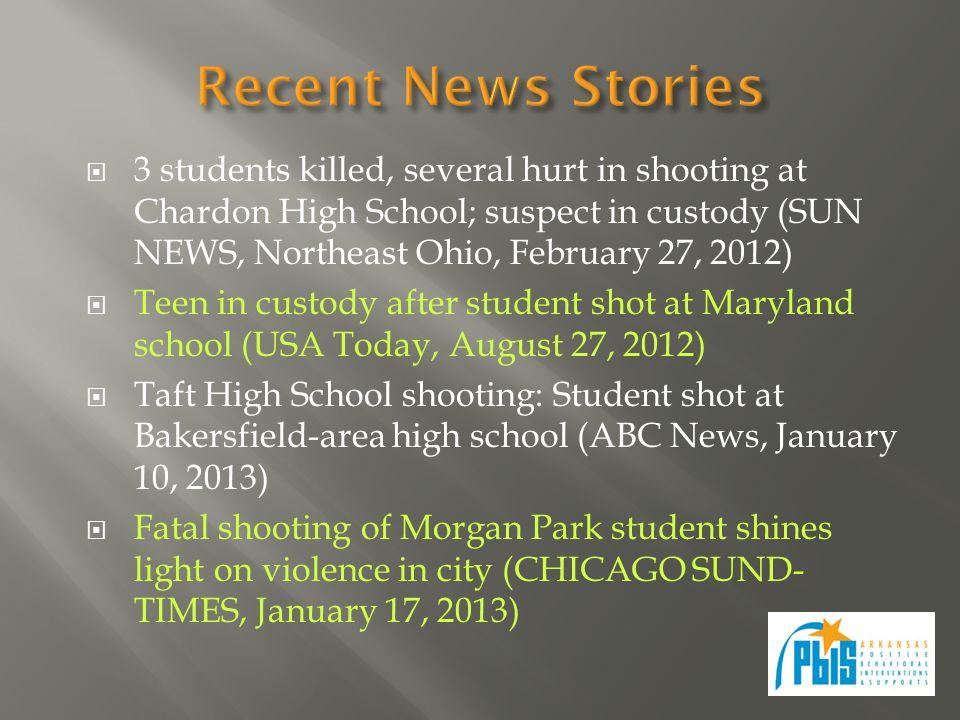  3 students killed, several hurt in shooting at Chardon High School; suspect in custody (SUN NEWS, Northeast Ohio, February 27, 2012)  Teen in custo