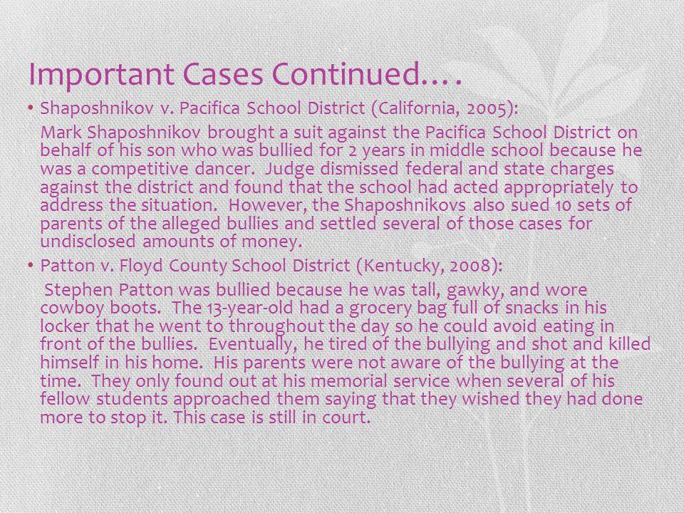 Important Cases Continued….Shaposhnikov v.