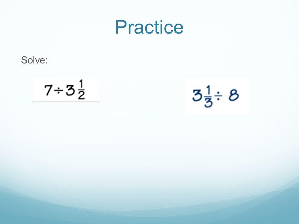 Practice Solve: