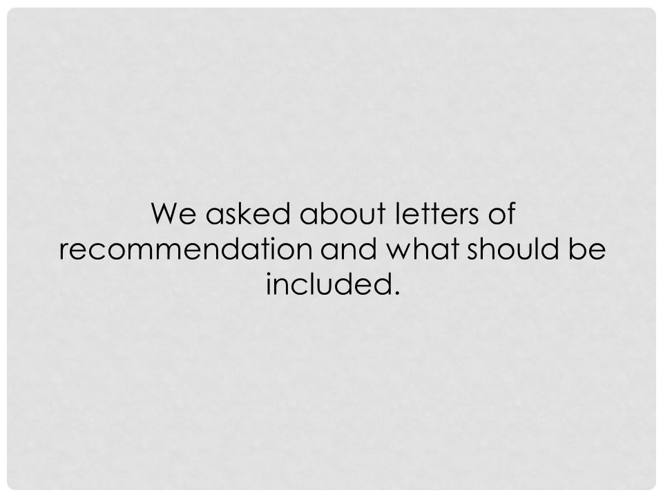 LETTERS OF RECOMMENDATION For the Jack Kent Cooke Transfer Scholarship, they prefer letters from professors.