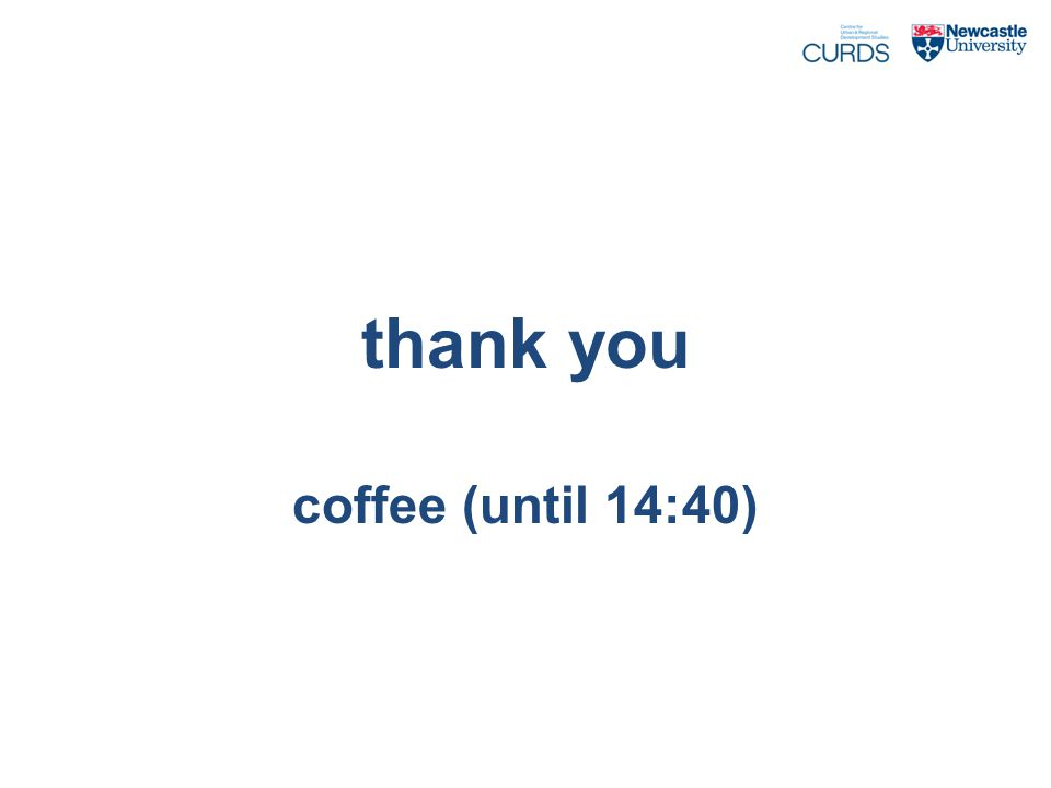 thank you coffee (until 14:40)