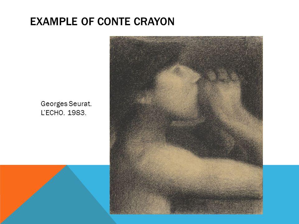 EXAMPLE OF CONTE CRAYON Georges Seurat. L'ECHO. 1983.