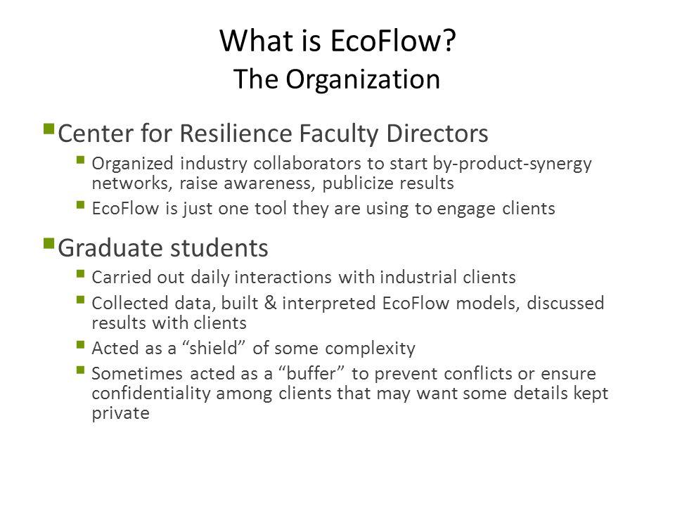 EcoFlow Project Shape External & Internal  Question: Should the external forces drive the internal decisions.