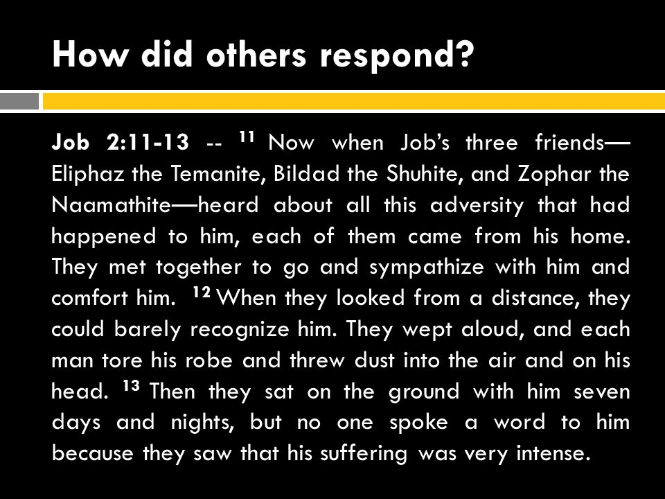 How did others respond.