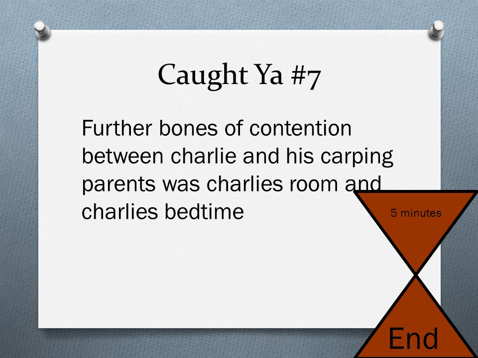 Caught Ya #6 - Notes 1. Avoid the use of contractions EXCEPT in dialogue. 2. Punctuation goes on the inside of the quotation marks.