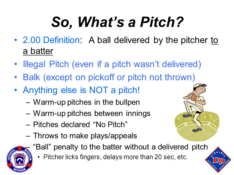 So, What's a Pitch.