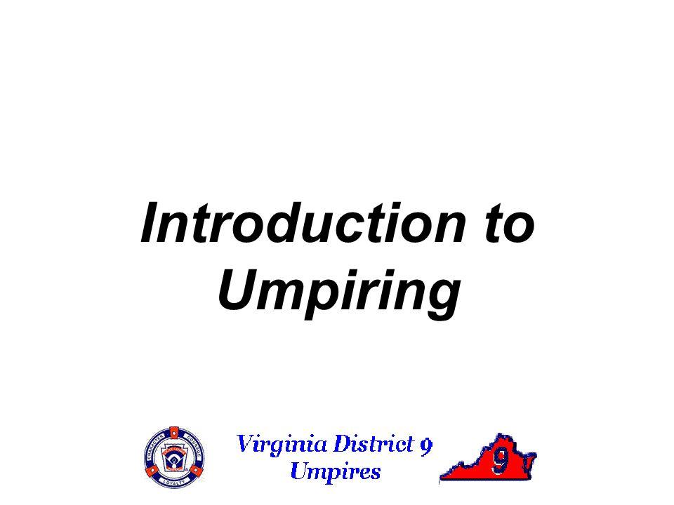 Introduction to Umpiring