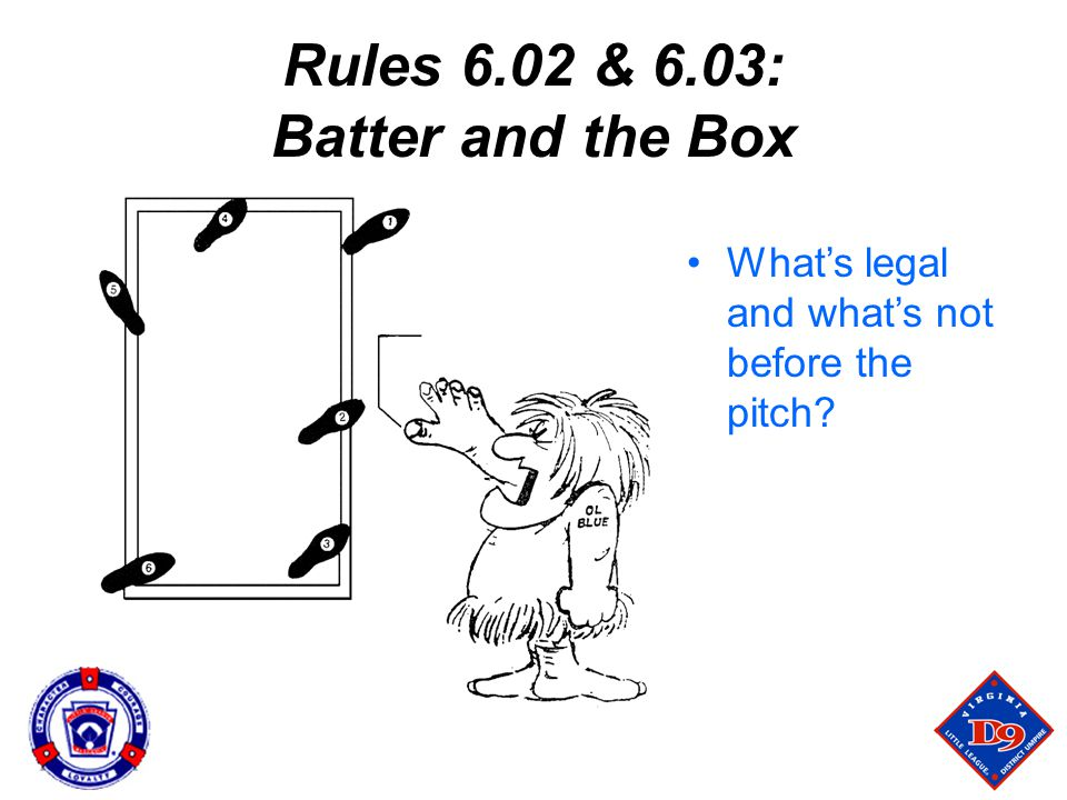 Rules 6.02 & 6.03: Batter and the Box What's legal and what's not before the pitch?