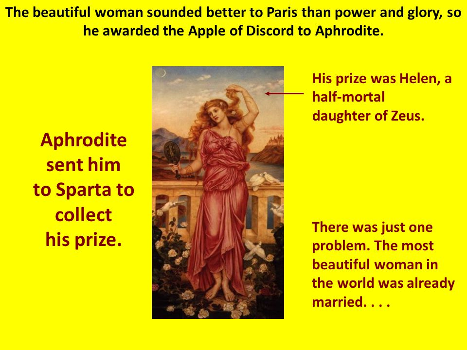 Aphrodite: Goddess of Love & Beauty Aphrodite promised to give Paris the most beautiful woman in the world.