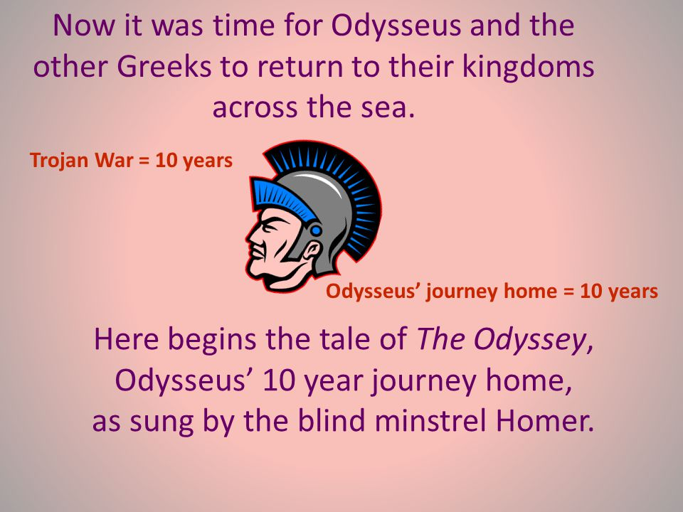 During the sack of Troy, Odysseus found Helen and took her to her husband, Menelaus. He told Menelaus that Helen had helped him steal a sacred Trojan