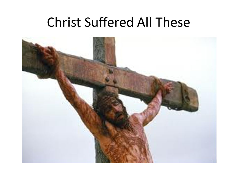 Christ Suffered All These