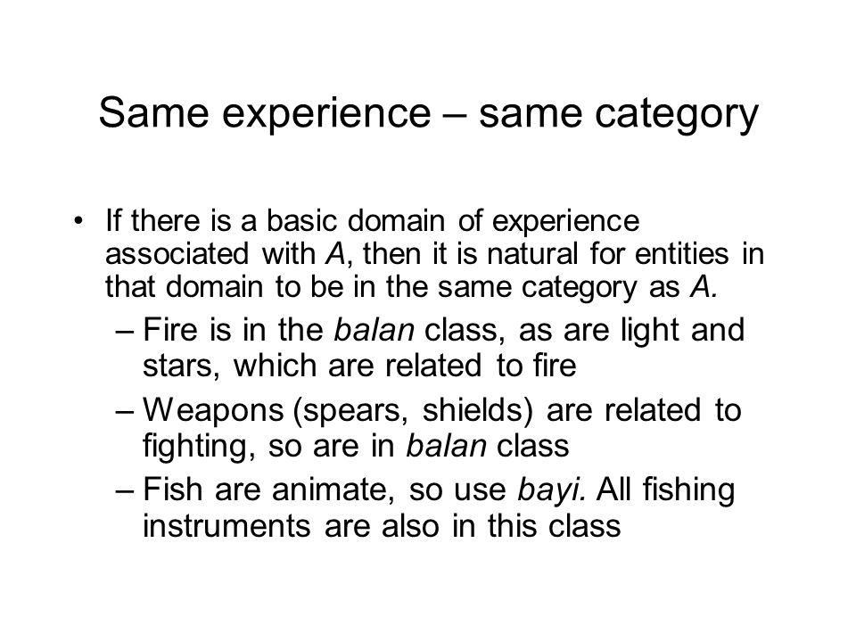Categorization in grammar