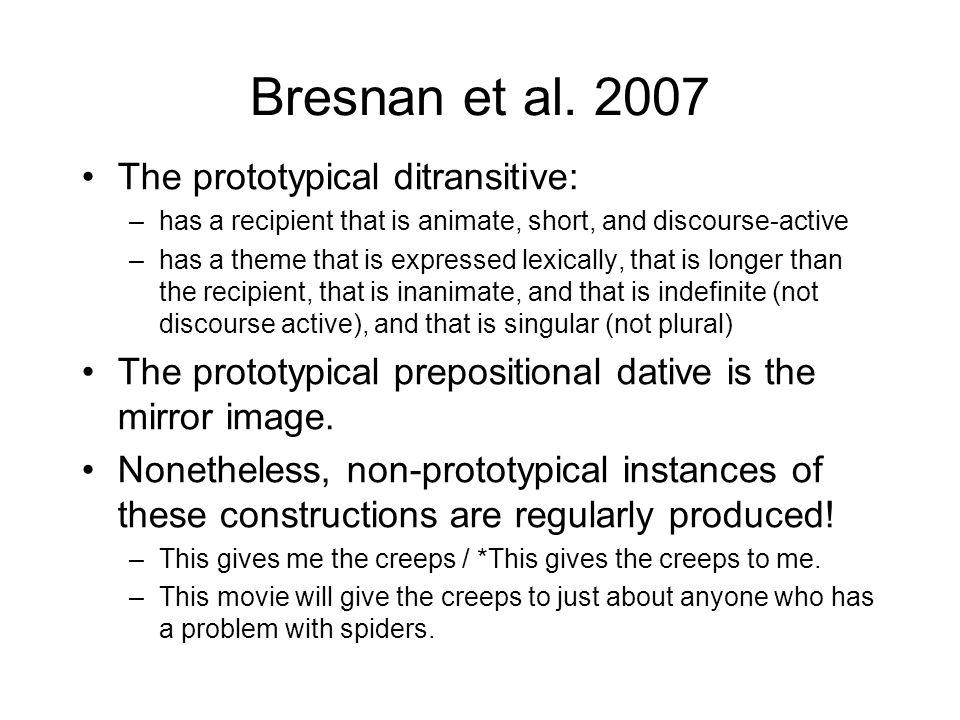 Bresnan et al.