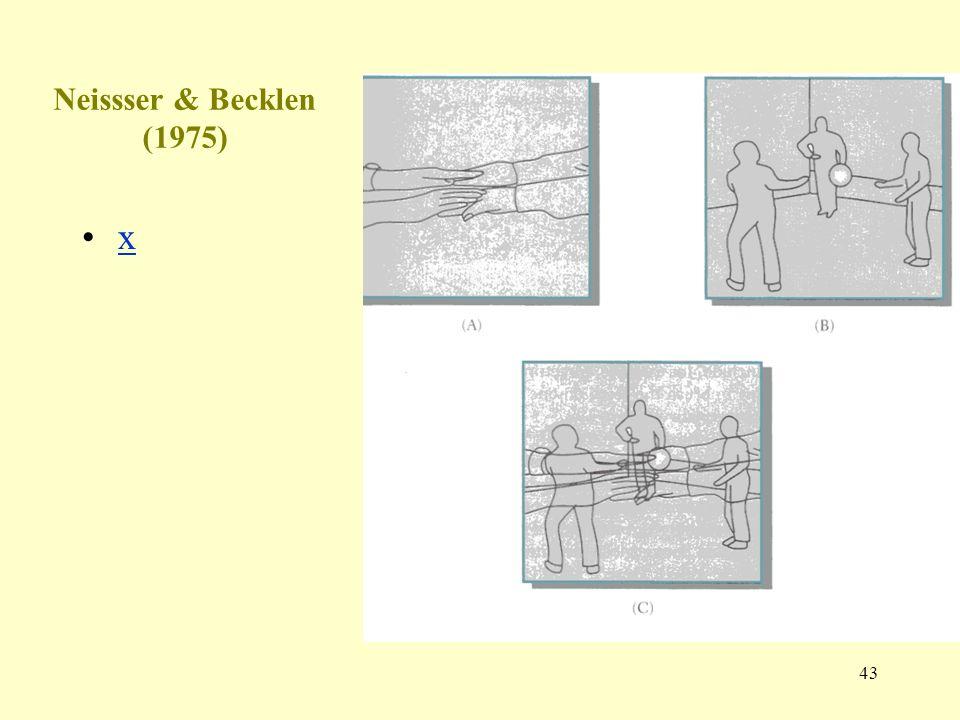 43 Neissser & Becklen (1975) x