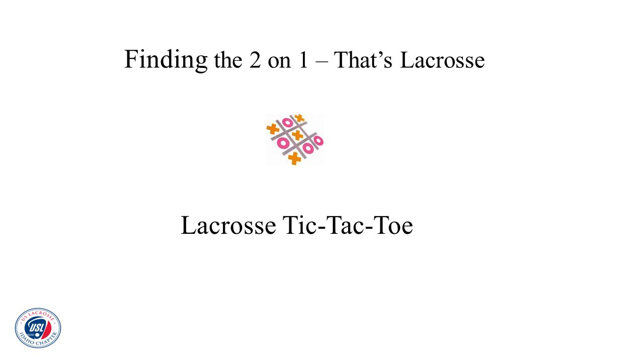 Finding the 2 on 1 – That's Lacrosse Lacrosse Tic-Tac-Toe