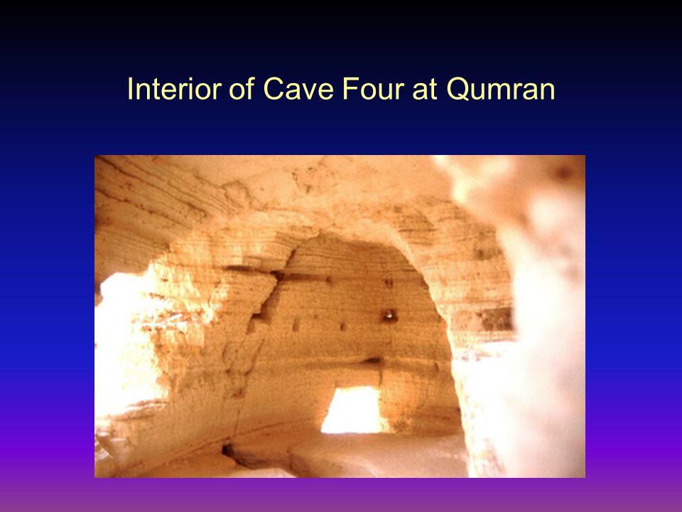 Interior of Cave Four at Qumran