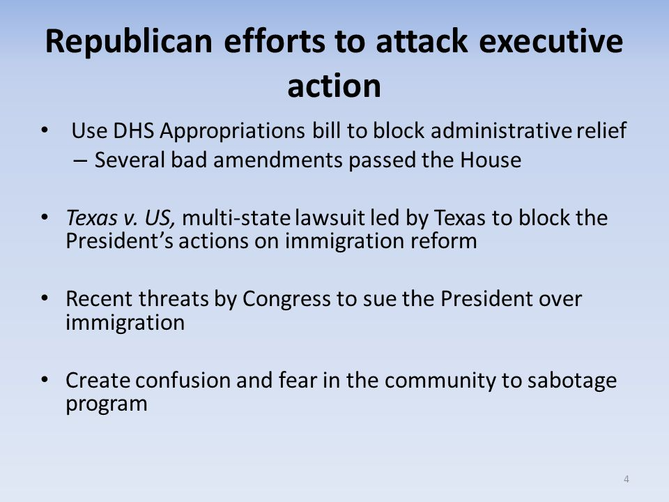 National State of Play HR 240 passed the House, is meant to nullify Executive Action and mandate S-COM, the Senate Democrats are filibustering and the White House has issued a Veto threat.