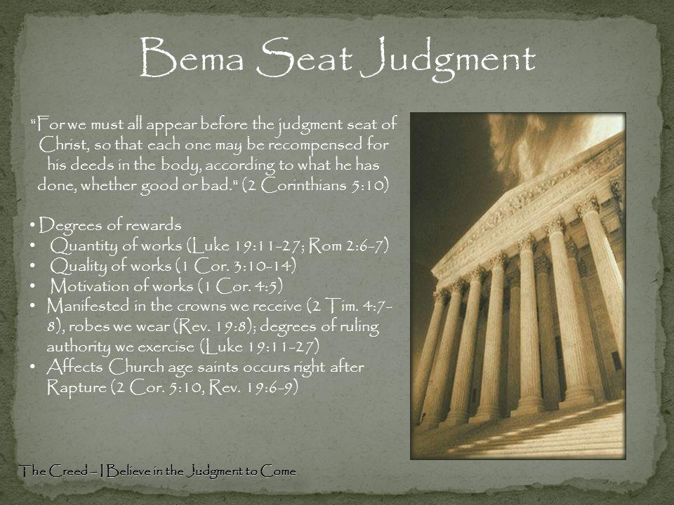 Bema Seat Judgment