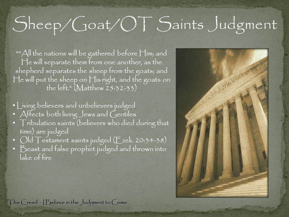 Sheep/Goat/OT Saints Judgment