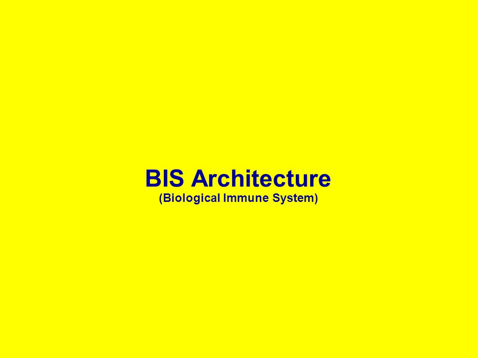 BIS Architecture (Biological Immune System)
