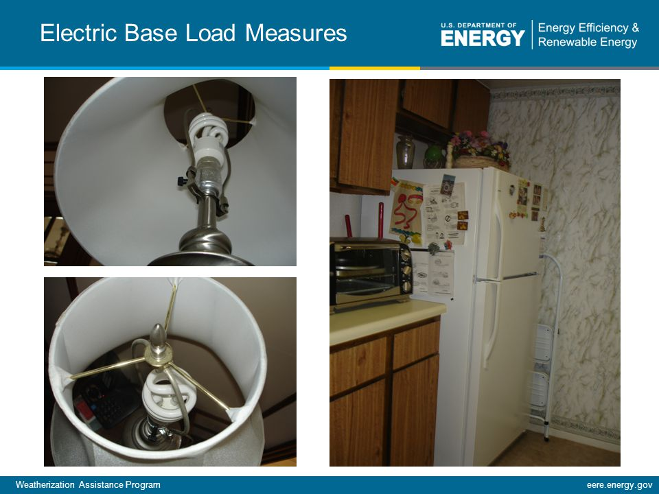 Weatherization Assistance Programeere.energy.gov Electric Base Load Measures