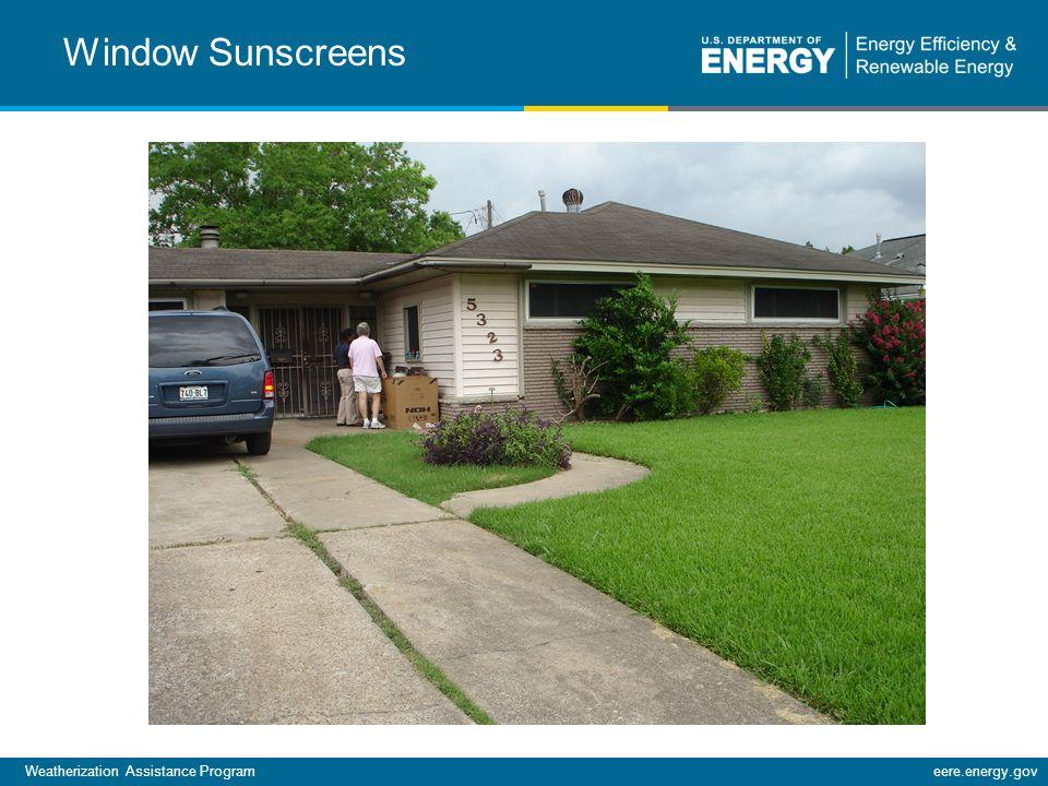 Weatherization Assistance Programeere.energy.gov Window Sunscreens