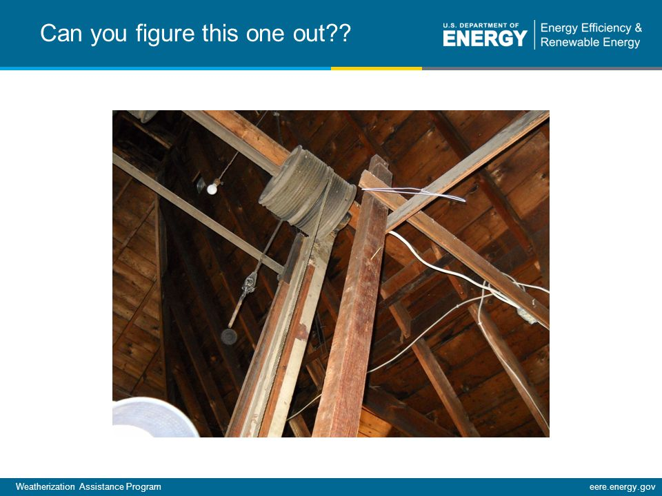Weatherization Assistance Programeere.energy.gov Can you figure this one out