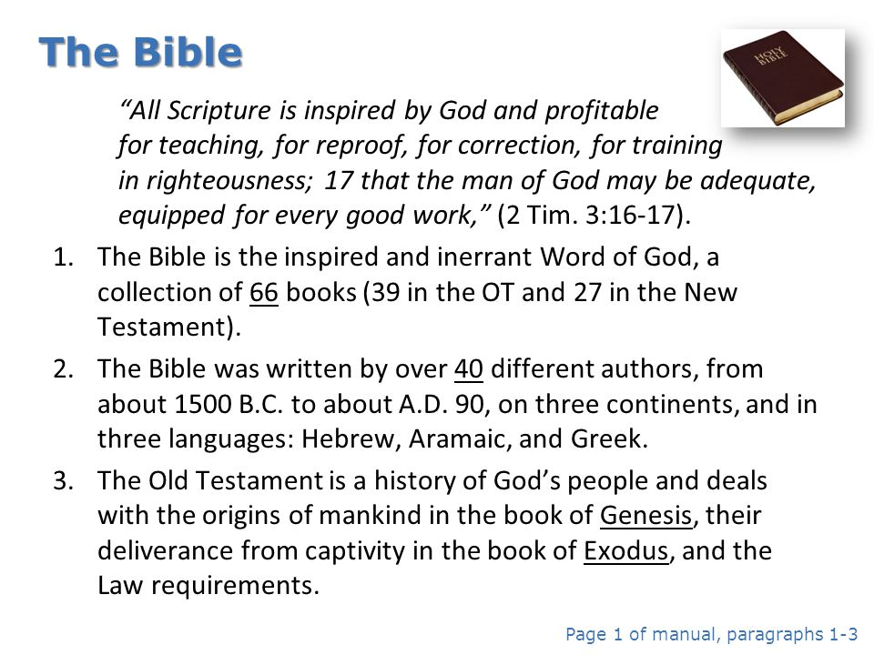 12 21.21.Following are generally accepted principles of Biblical interpretation.
