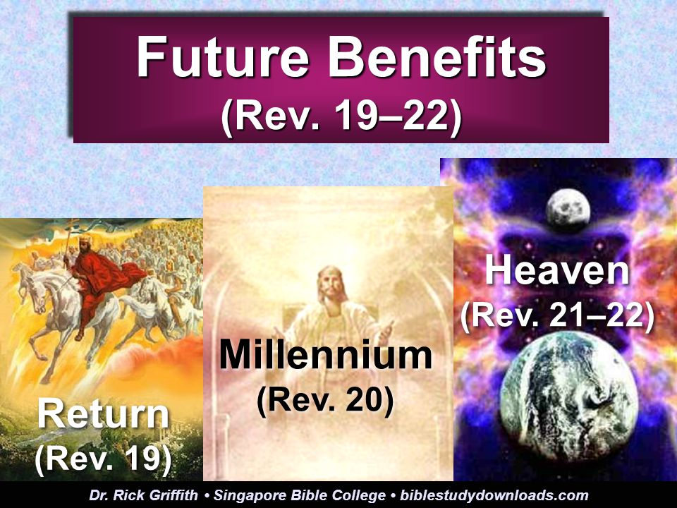 Future Benefits (Rev. 19–22) Heaven (Rev. 21–22) Return (Rev.