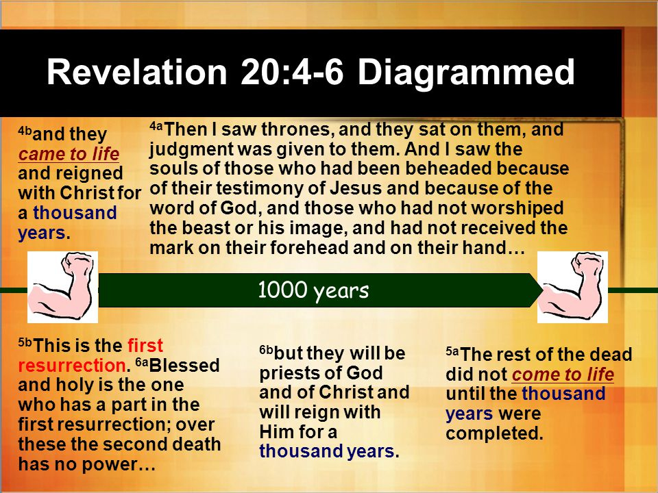 Revelation 20:4-6 Diagrammed 5b This is the first resurrection.