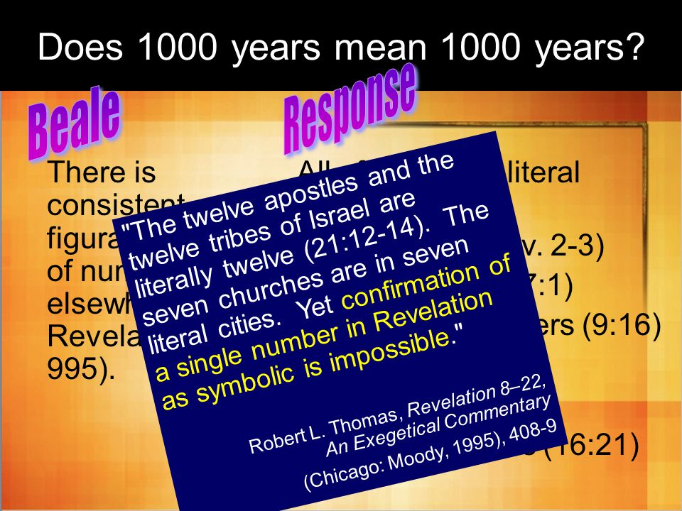 Does 1000 years mean 1000 years.