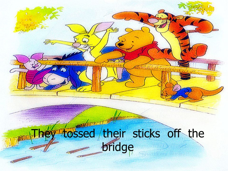 They tossed their sticks off the bridge